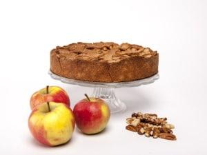 taart plaat met appel noten
